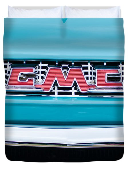 1956 Gmc 100 Deluxe Edition Pickup Truck Duvet Cover by Jill Reger
