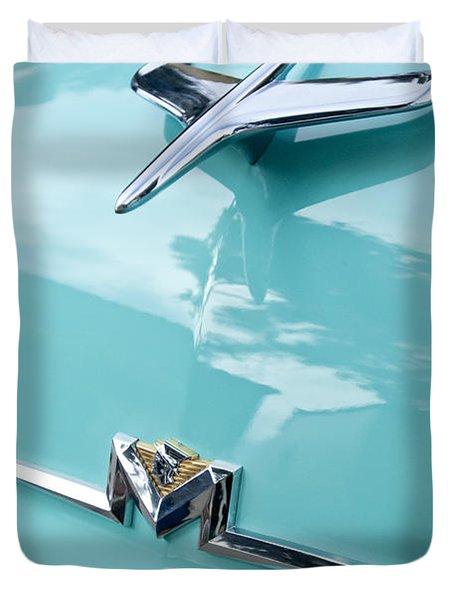1956 Mercury Monterey Hood Ornament Duvet Cover by Jill Reger