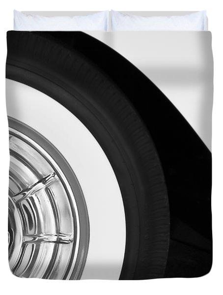 1957 Corvette Wheel Duvet Cover by Jill Reger