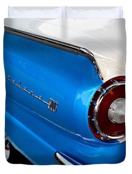 1957 Ford Fairlane 500 Duvet Cover by Dorothy Menera