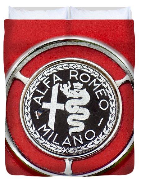 1959 Alfa-Romeo Giulietta Sprint Emblem Duvet Cover by Jill Reger