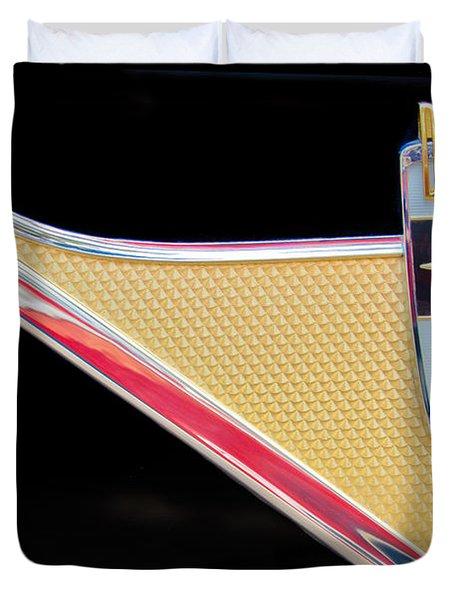 1959 Desoto Adventurer Emblem Duvet Cover by Jill Reger