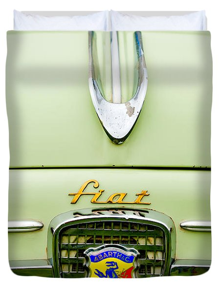 1959 Fiat 600 Derivazione 750 Abarth Hood Ornament Duvet Cover by Jill Reger