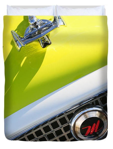1959 Nash Metropolitan 1500 Convertible Hood Ornament - Grille Emblem Duvet Cover by Jill Reger