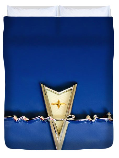 1959 Pontiac Bonneville Emblem Duvet Cover by Jill Reger