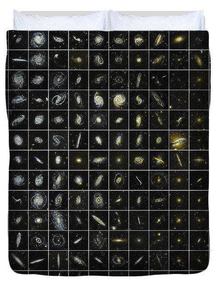 196 Galaxies Duvet Cover by Science Source