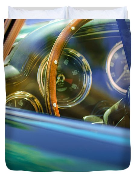 1960 Aston Martin DB4 Series II Steering Wheel Duvet Cover by Jill Reger