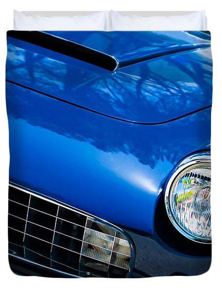 1960 Ferrari 250 Gtf Pinin Farina Cabriolet Series II Grille Emblem Duvet Cover by Jill Reger