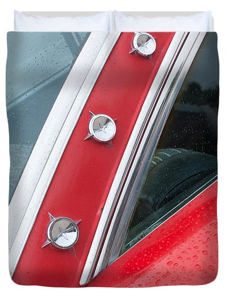 1960 Ford Galaxie Starliner Duvet Cover by Jill Reger