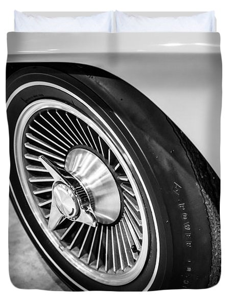1960's Chevrolet Corvette C2 Spinner Wheel Duvet Cover by Paul Velgos