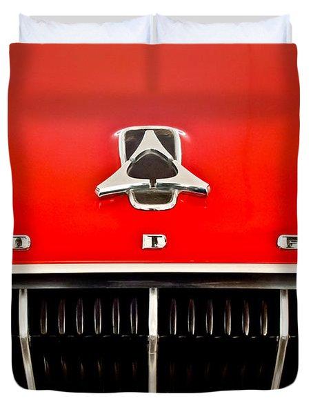 1962 Dodge Polara 500 Emblem Duvet Cover by Jill Reger