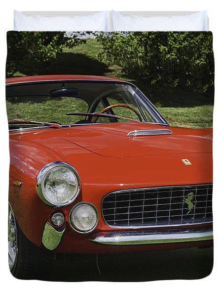 1963 Ferrari 250 Gt Lusso Duvet Cover by Sebastian Musial