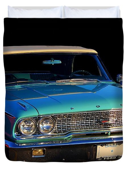1963 Ford Galaxy Duvet Cover by Davandra Cribbie