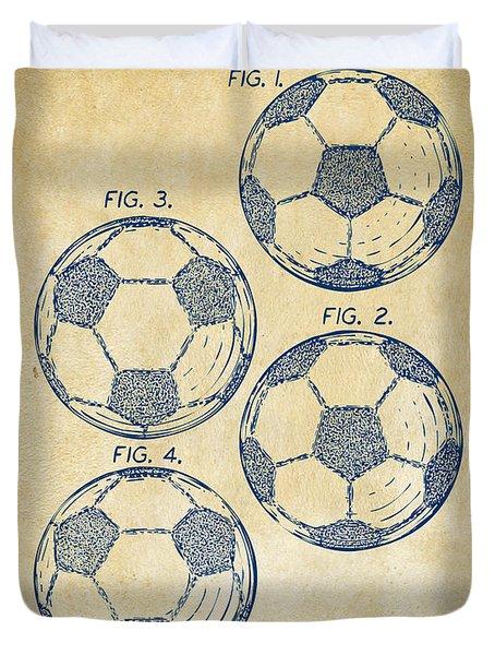 1964 Soccerball Patent Artwork - Vintage Duvet Cover by Nikki Marie Smith