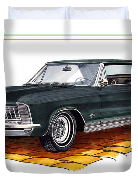 1965 Buick Riviera Custom Duvet Cover by Jack Pumphrey