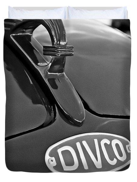 1965 Divco Milk Truck Hood Ornament 3 Duvet Cover by Jill Reger