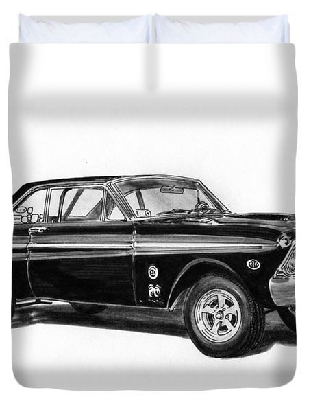 1965 Ford Falcon Street Rod Duvet Cover by Jack Pumphrey