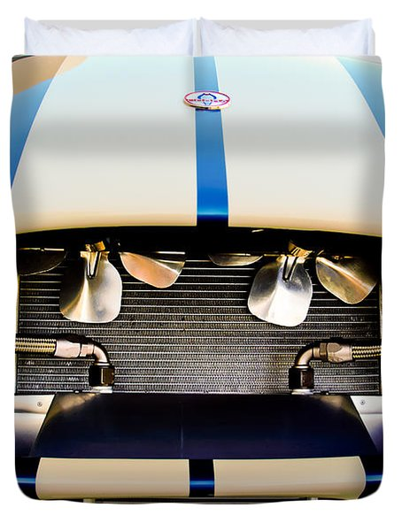 1965 Shelby Cobra Grille Duvet Cover by Jill Reger