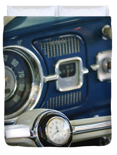 1965 Volkswagen VW Beetle Steering Wheel Duvet Cover by Jill Reger