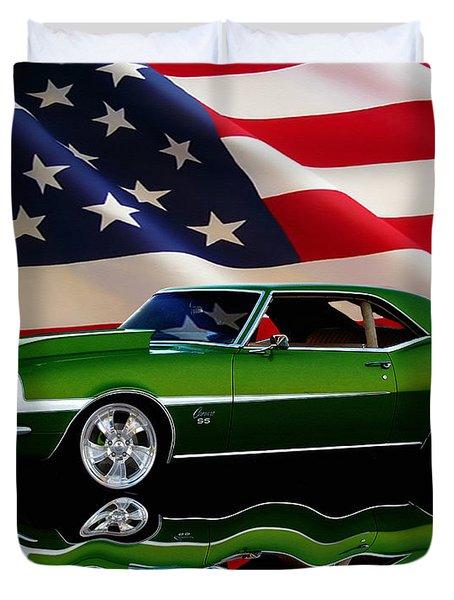 1968 Camaro Tribute Duvet Cover by Peter Piatt