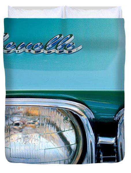 1968 Chevrolet Chevelle Headlight Duvet Cover by Jill Reger