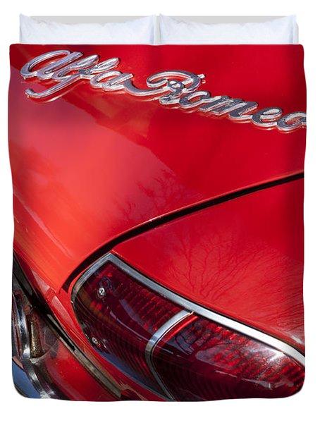 1969 Alfa Romeo 1750 Spider Taillight Emblem Duvet Cover by Jill Reger
