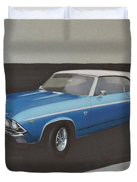 1969 Chevelle Duvet Cover by Paul Kuras