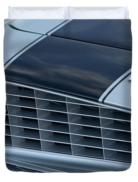 1969 Chevrolet Camaro Z 28 Grille Emblem Duvet Cover by Jill Reger