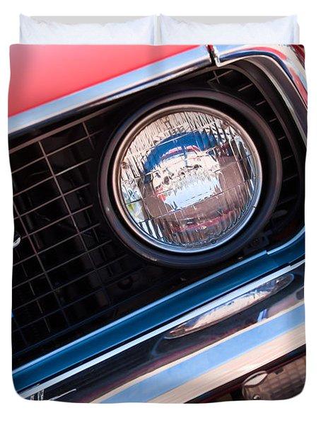 1969 Ford Mustang Boss 429 Grille Emblem Duvet Cover by Jill Reger