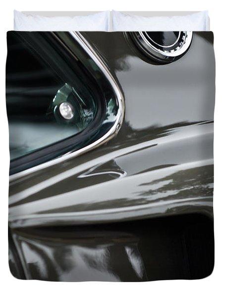 1969 Ford Mustang Mach 1 Emblem 2 Duvet Cover by Jill Reger