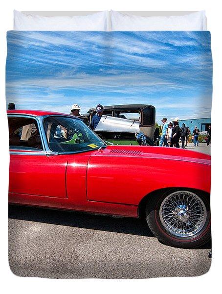 1970 Jaguar Xke 2 Plus 2 Series II Duvet Cover by Steve Harrington