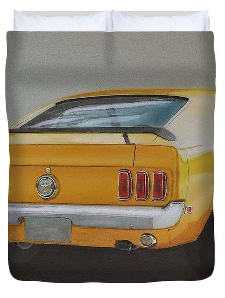 1970 Mustang Fastback Duvet Cover by Paul Kuras