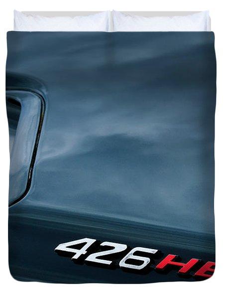 1971 Dodge Hemi Challenger RT 426 Hemi Emblem Duvet Cover by Jill Reger