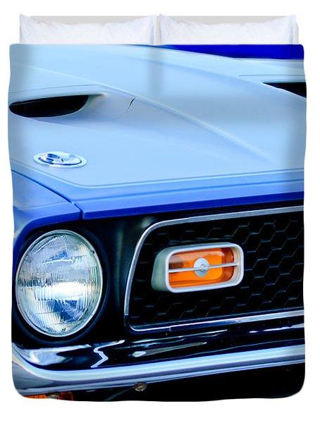 1971 Ford Mustang Boss 351 Cleveland Duvet Cover by Jill Reger