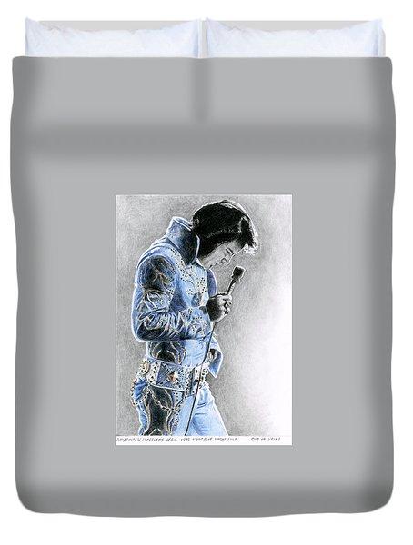 1972 Light Blue Wheat Suit Duvet Cover by Rob De Vries
