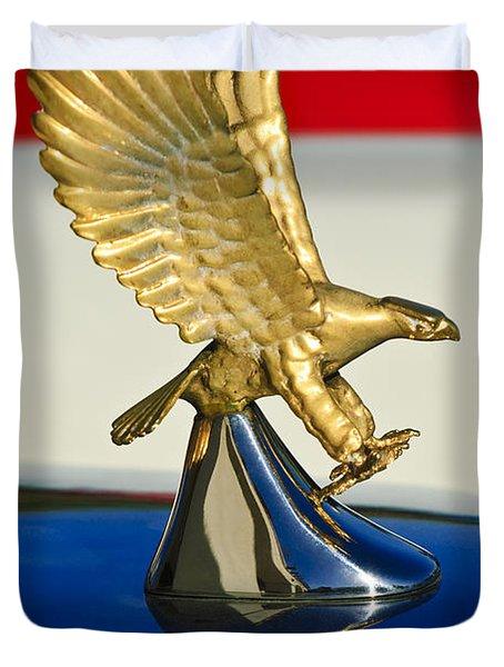 1986 Zimmer Golden Spirit Hood Ornament Duvet Cover by Jill Reger