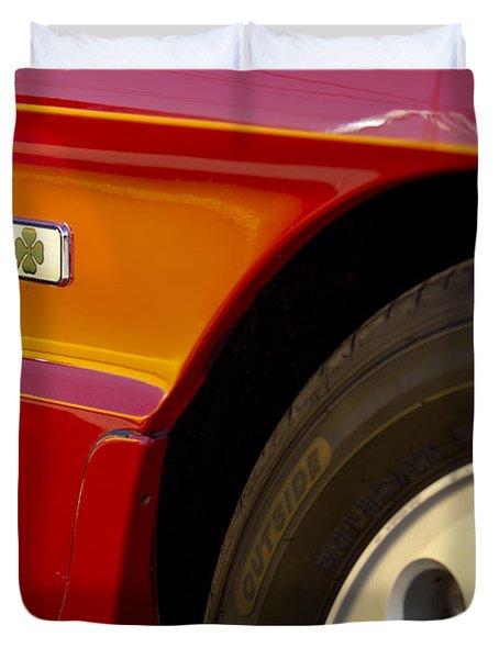 1988 Alfa Romeo Spider Quad Emblem Duvet Cover by Jill Reger