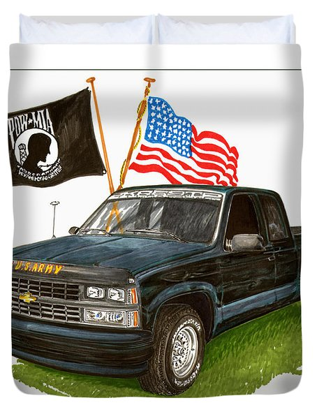 1988 Chevrolet M I A Tribute Duvet Cover by Jack Pumphrey