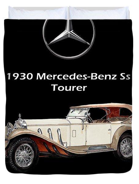 1930 Mercedes Benz Ss Tourer Duvet Cover by Jack Pumphrey