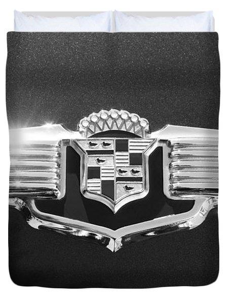 1941 Cadillac Emblem Duvet Cover by Jill Reger