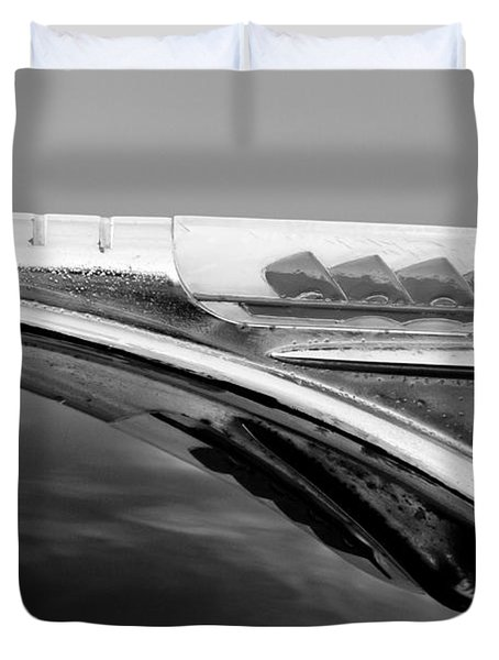 1947 Plymouth Hood Ornament Duvet Cover by Jill Reger