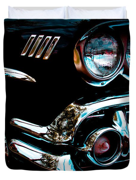 1958 Chevy Bel Air Duvet Cover by David Patterson