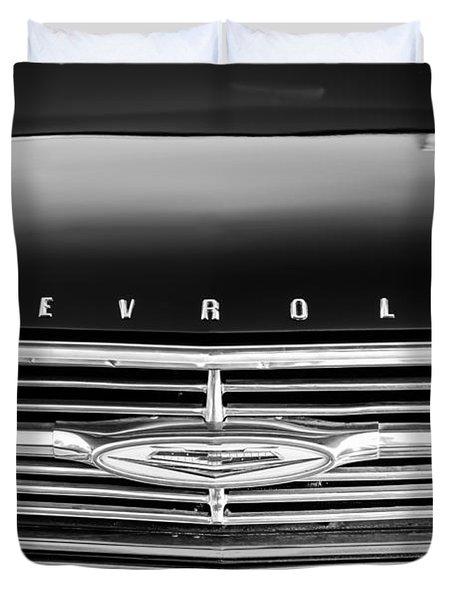1960 Chevrolet El Camino Grille Emblem Duvet Cover by Jill Reger