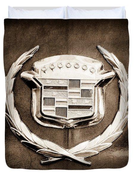 1969 Cadillac Eldorado Emblem Duvet Cover by Jill Reger