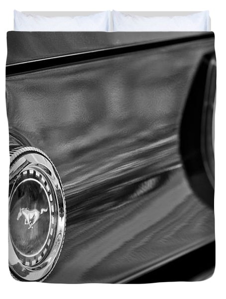 1969 Ford Mustang Taillights Duvet Cover by Jill Reger