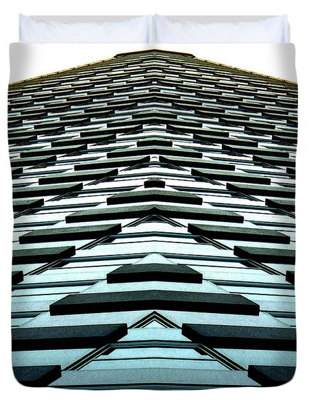 Abstract Buildings 1 Duvet Cover by J D Owen