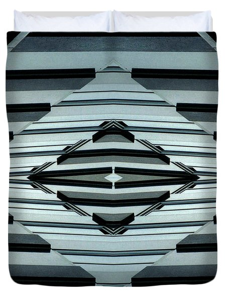 Abstract Buildings 6 Duvet Cover by J D Owen