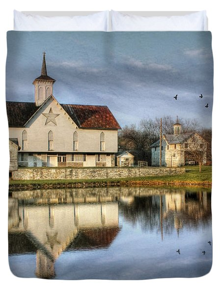 Afternoon At The Star Barn Duvet Cover by Lori Deiter