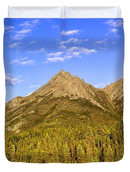 Alaska Mountains Duvet Cover by Chad Dutson