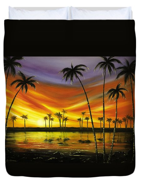 Another Sunset In Paradise Duvet Cover by Gina De Gorna